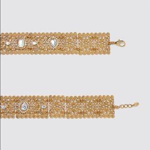 NWT. Zara Golden Bejewelled Belt.